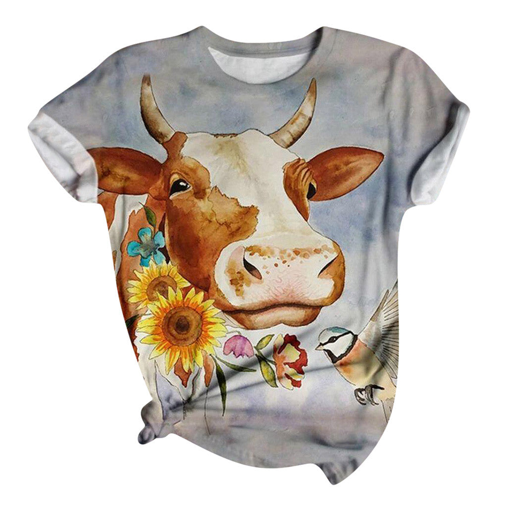 How Now Brown Cow Womens T Shirt SS Top S, M, L, XL, XXL 3XL