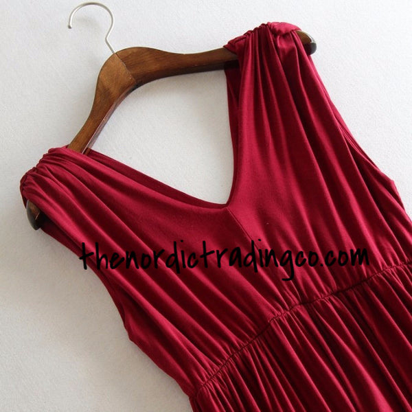 Red Maternity Dress Incredibly Soft Jersey Knit So Comfortable Beautiful Colors Nursing Friendly Clothes Clothing Women's Dresses