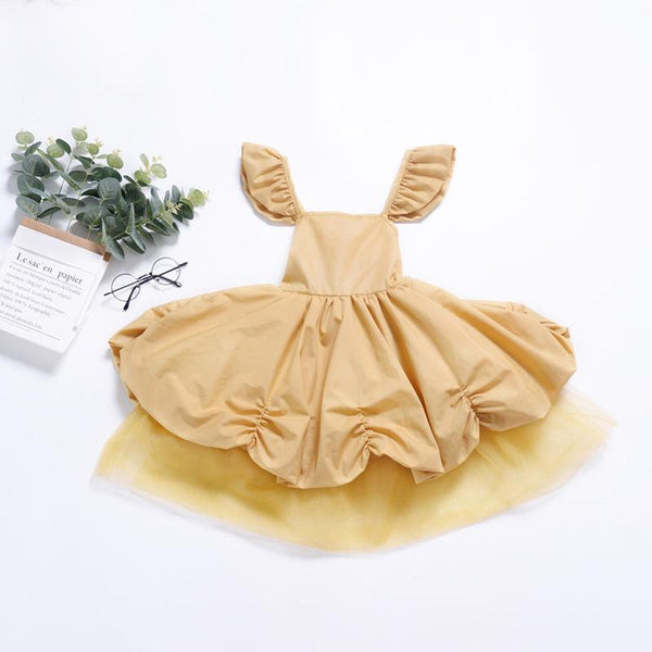 Gold Damsel Medieval Girl's Fairy Tale Princess Fairytale Dress  Flower Girl Dresses Girls Nobility Royal Princess Make Believe Costume Toddler Kids Halloween Outfit