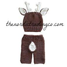 My Darling Deer Deer Buck Hat w/ Antlers Newborn Photo Prop Outfit Crochet Baby Outfits Hunt Hunting Shower Gifts USA Boys Set Kids