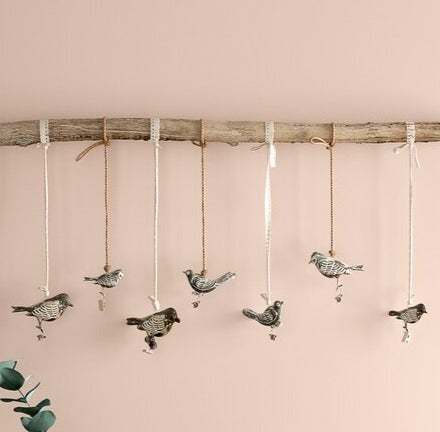 Close Up Birds On A Branch Wall Hanging Nordic Home Decor Hygge