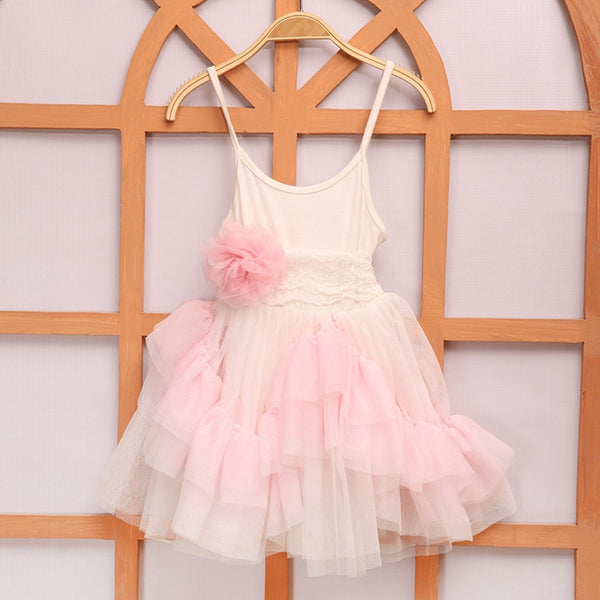 Dreamy Girl's Dress Layered Ruffles Lace Tulle size 4T, 5T Pink Cream Toddler Children's Clothing Birthday Flower Girl Special Occasion Little Girls Dresses Clothes Clothing Dress