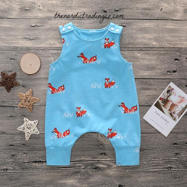 e9fc9f518 Fox Baby Boy's One Piece Romper Infant Boy Woodlands Animal Baby USA –  thenordictradingco.com