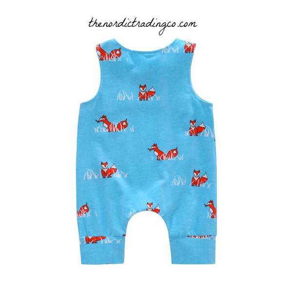 Fox Baby Boy's One Piece Romper Infant Boy Woodlands Animal Baby Shower Gift Foxes Boys Newborn Clothes Gifts Outfits 0/3 Photo Props