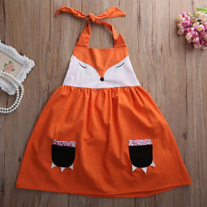 Whimsical Fox Little Girls / Toddlers Dress Plus FREE PURSE Paw Pockets Woodlands Animal  Friends Clothing Year Round Wear Ships from USA