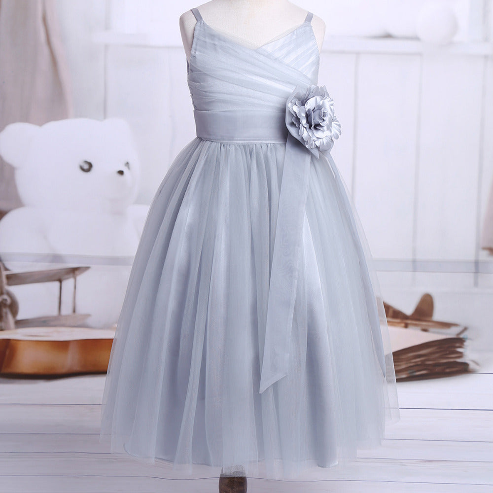 1a7cee73cafe Girls' Ballerina Inspired Flower Girl Dress Jr Bridesmaid Pastels Blue –  thenordictradingco.com