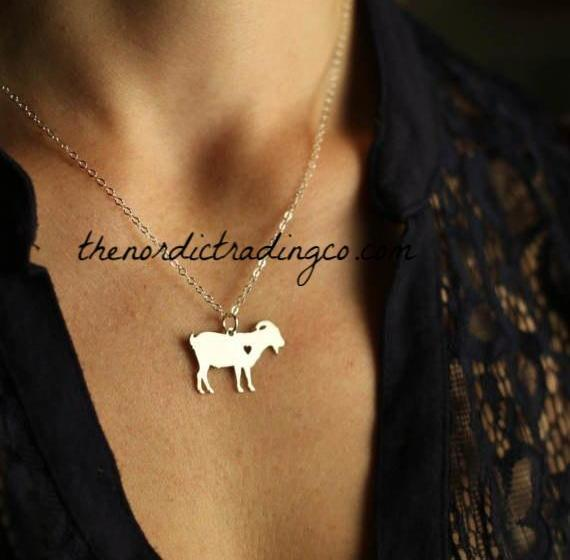 Billy Goat Womens Necklace Perfect Gift Stocking Stuffer Goat Yoga Lovers 4H Animal Farmer Breeder Women's Personalized Monogrammed Jewelry Accessories Gift's Christmas Birthday Goats Milk Ewe Wool Boys Girls