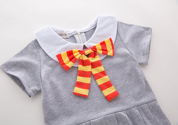 Baby Girl's Harry Potter Inspired Romper Hogwarts School Newborn Girl Baby Shower Gift Set One Piece Outfit Girls Halloween Costume Photo Prop Gifts