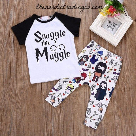 f37a08c4bd9 Harry Potter Outfits Baby Boy or Girl Infant Newborn Outfit 3pc Set Pants  Shirt Babies Boy s