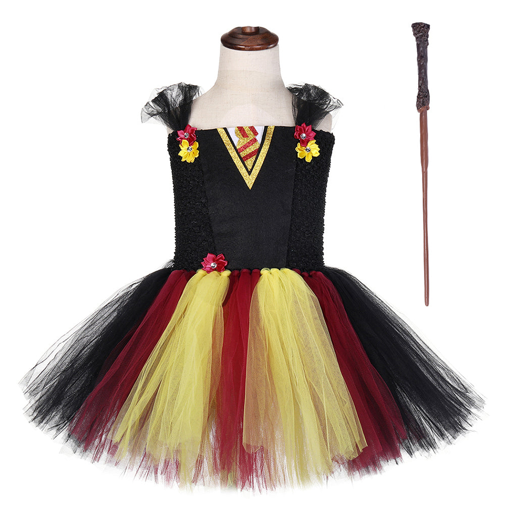 Harry Potter Tutu Costume Dress for Girl's S M L XL Includes Wand Halloween / Birthday Party Girl Outfits