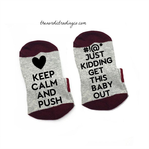 Labor Delivery Hospital / Home Birth Socks Include Motivational Humorous Message Baby Shower Gift Sock Super Trendy Laugh Out Loud Funny