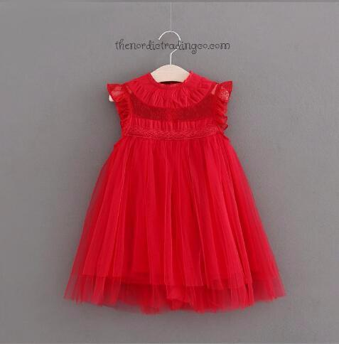 39152646c83f1 Couture Toddler Little Girl's Dress Red Dark Green Purple Pink Blue Brown  Green Lightly Smocked Accents Flower Girl Dress Portraits sz 2T - 6 ...