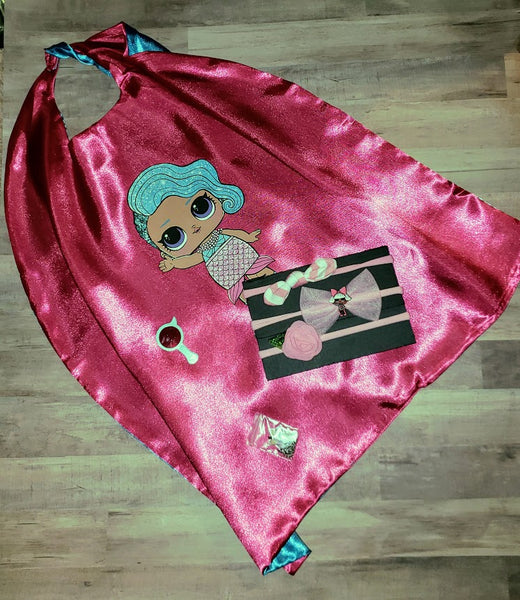 Little Mermaid Cape Halloween Costume Accessory Girls Love Capes Birthday Party Outfits Gift Mermaids Ocean