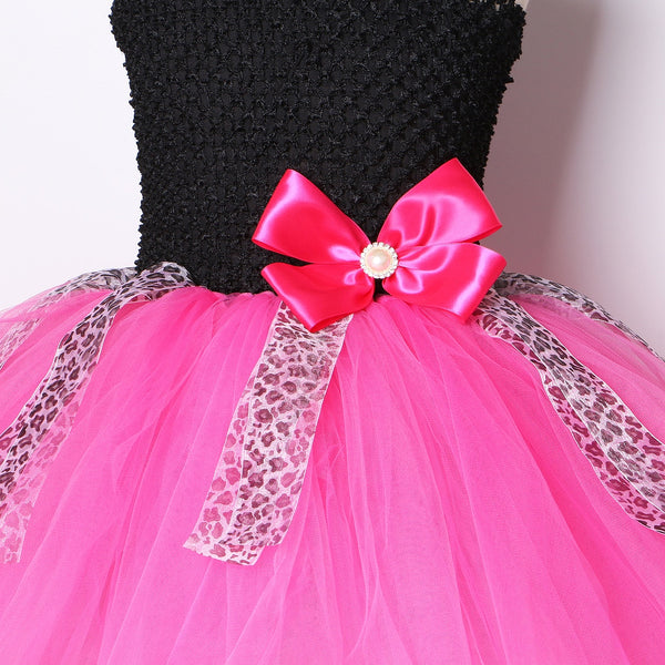 LOL Surprise Doll Diva Inspired Tutu Girls Dress Birthday or Halloween Costume Dresses Bow Headband & Sequin Patch Girl Costumes Dress Up Play Gifts for Girls
