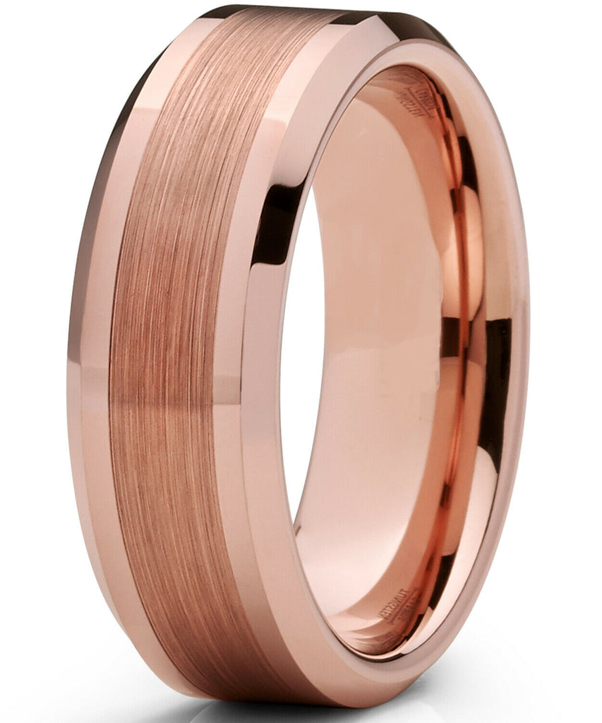 mens rose gold wedding ring hombre de bodas anillo bands ring man