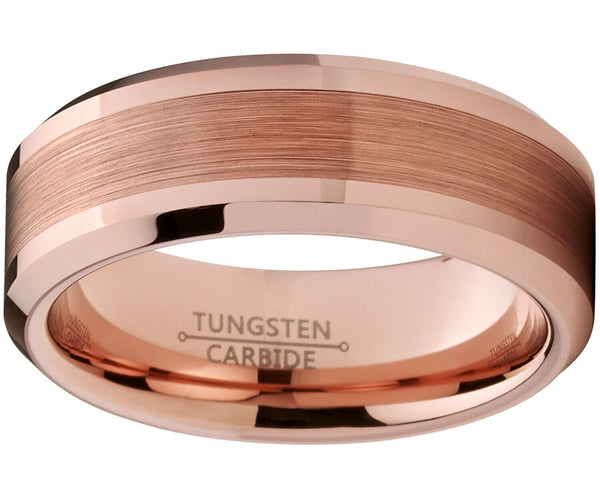 Mens Rose Gold Wedding Rings Bands Bodas Hombre Anilos