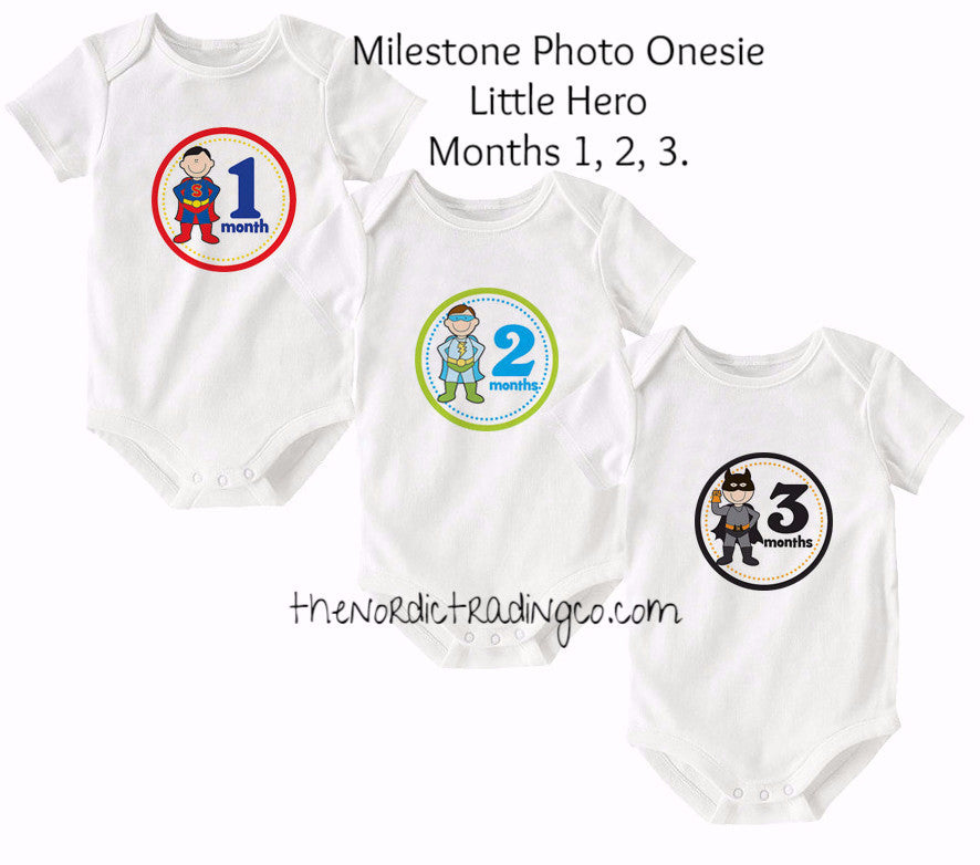 a392e8018 ... Baby Shower Gift Sets Infant Bodysuit Clothes Photo Prop. Boys Monthly  Milestone Photo Pictures Onesie Superhero Set Months 1 2 3 Superman Green  Lantern ...