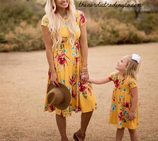 2018 New Mommy & Me Boho Matching Dresses Med, LG, XL thenordictradingco.com