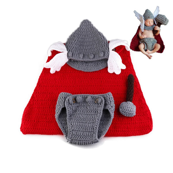 Handmade Baby Thor First 1st Halloween Costume Photo Prop Gift Idea
