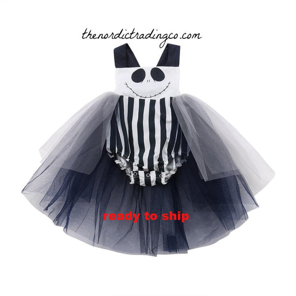 Nightmare Before Christmas Girl's Halloween Tutu Romper Dress Costume Baby Toddler Girls Features Jack Sally Skellington Kids Costumes Party Birthday Tutu's Clothing Accessories