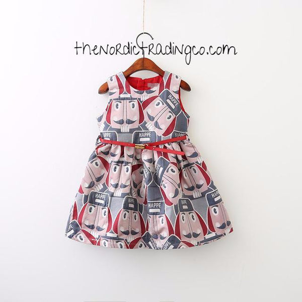 Sold Out Nutcracker Soldier Nordic Christmas Dress Red Pink Toddler Little Girl's Dresses Holiday Girls Clothing Kids Children's Jumper