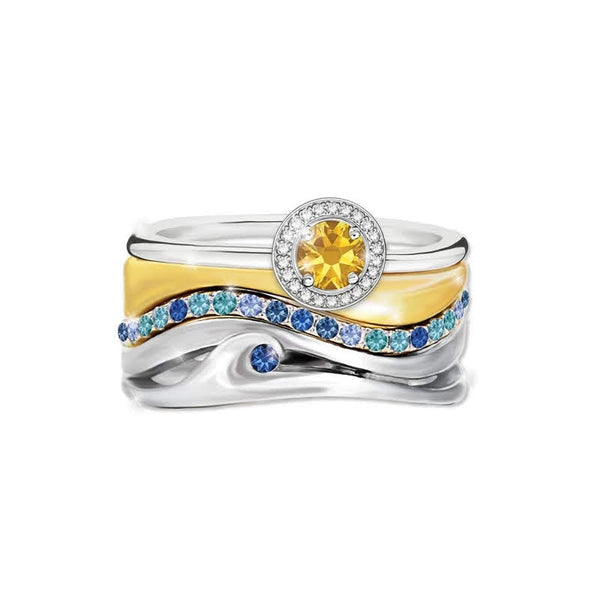 Waves Ocean Mountains Sun Womens Surf Ring Jewelry Gifts Rings Jewellery Ava Now USA