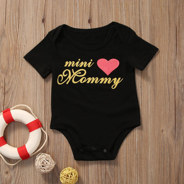 Mini Mommy Infant Onesie Romper Headband Gift Set Baby Shower Girl Clothes Newborn - 3mo USA Shipping