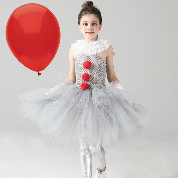 IT Clowns Costume Kids Girls Tutu Dress Up Costumes King of Terror Halloween Costume Child Childrens Girl's Tutus Dresses Theater
