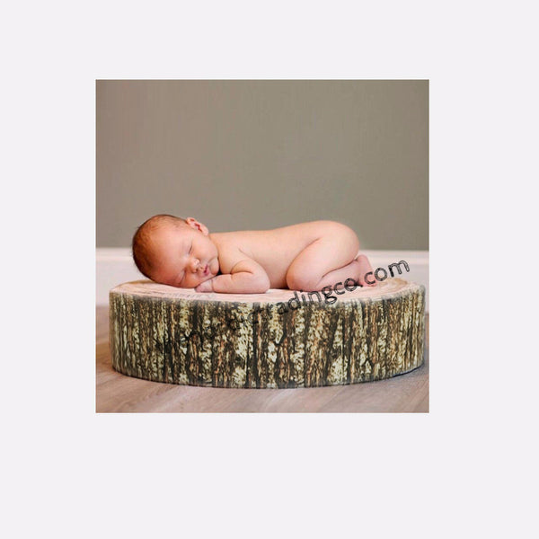 Woodland Rustic Home Accent Tree Log Stump Pillow Great Baby Photo Prop Cushion Nursery Baby Room Play Area