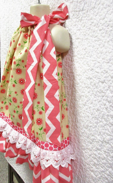 Girl's Boutique Pillowcase Dress sz 2T - 3T Toddler Girl Ruffled Pillow Case Dress Children's Kids Clothing & Apparel