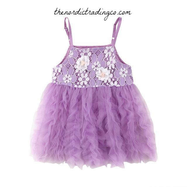 Lavender Rippling Ruffles Girl's Baby Toddler Kids Dresses Girl Birthday Flower Girl Dress 12 mo, 2T, 3T, 4T Ships From USA
