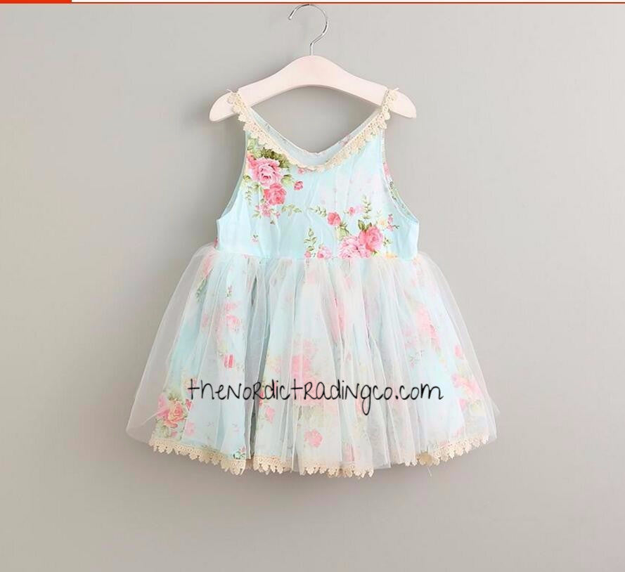 89f9b04b1 Girl s Shabby Chic Lace English Rose Pink Floral Dress sz 2T - 6 ...