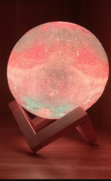 Space Solar System Galaxy Night Light Lamp Color Changing Remote Control Soothing Colors Change Depicts Universe Celebrate Apollo Landing Home Decor Birthday Christmas Gift
