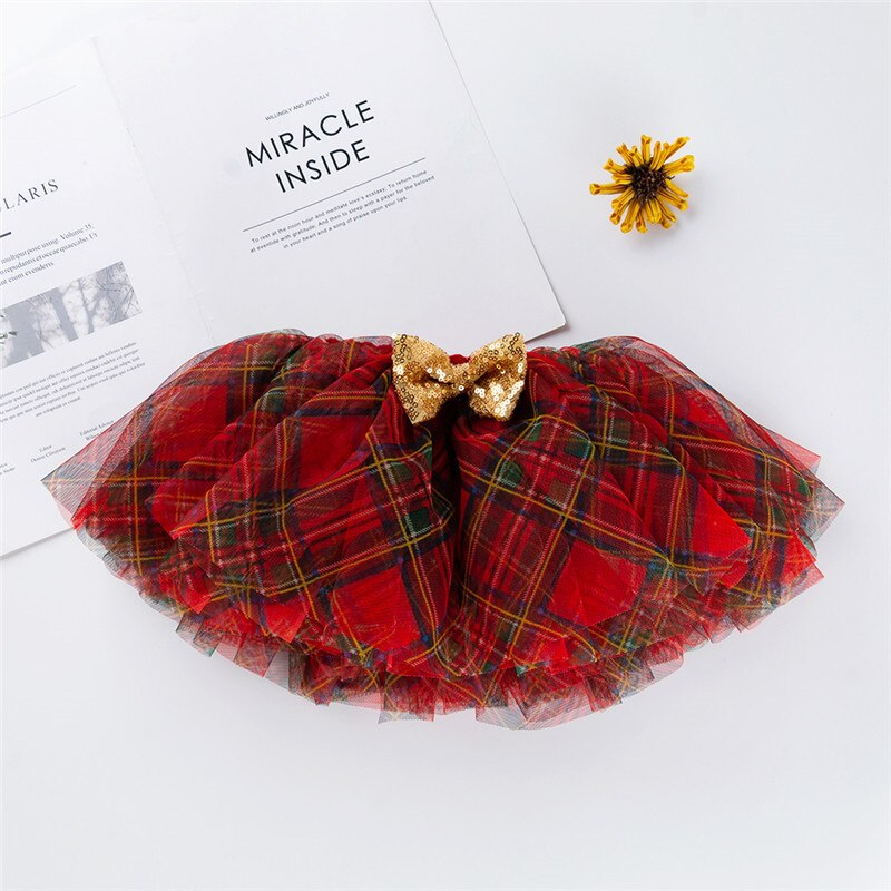 Tartan Scottish Plaid Tutu Skirt Baby Toddler Girls Tulle Skirts Holiday Christmas Pictures Party Clothes Kids Clothing 6/12 12/24 mo Baby Photography