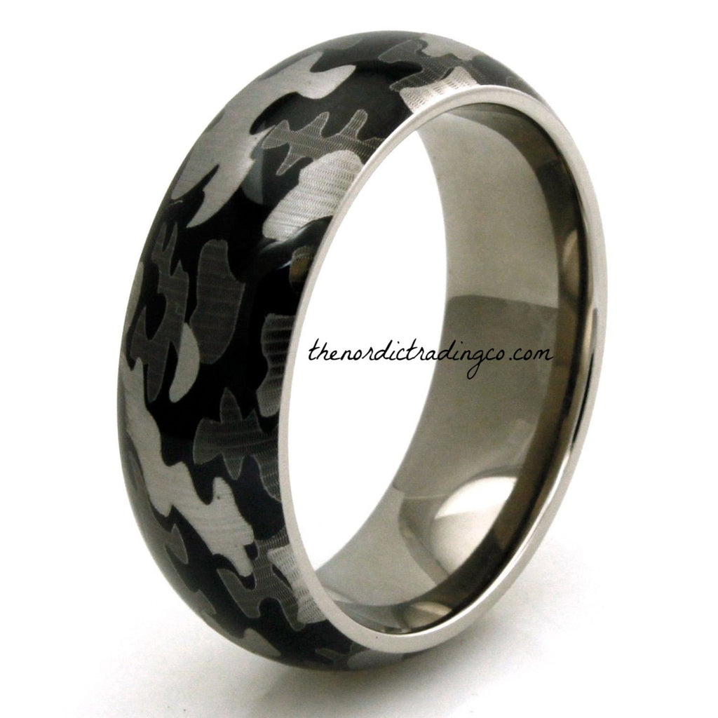 ring original band flat product titanium wedding rings camo bands