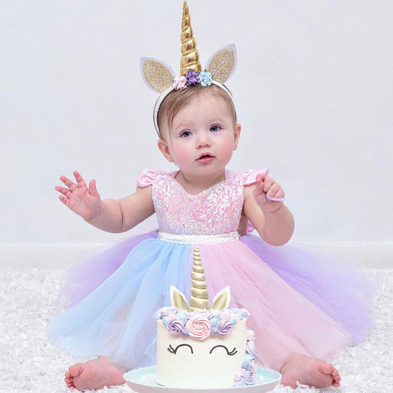 e1997e40c ... Baby Girl's Iridescent Sparkles Tutu Dress Romper 12-18 mo Great 1st  Birthday Outfit Free ...