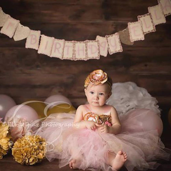 Twinkle Star Baby Girls First Birthday Party Dress Blush Gold Ivory Tutu & Headband 12/18 mo Photography Pictures Props
