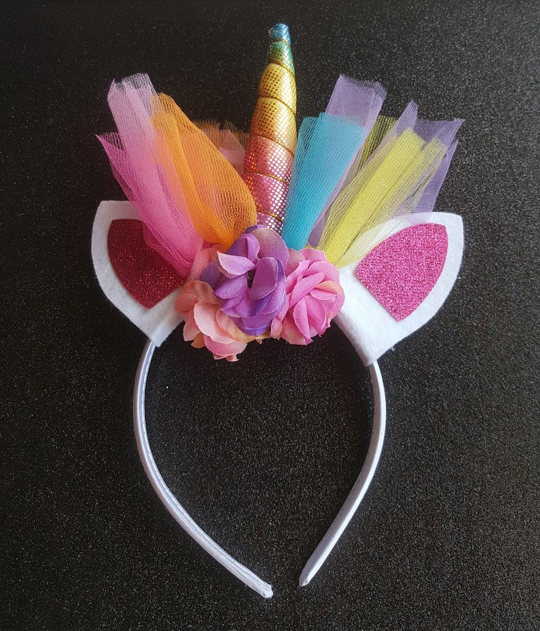 Rainbow Unicorn Headband Premium