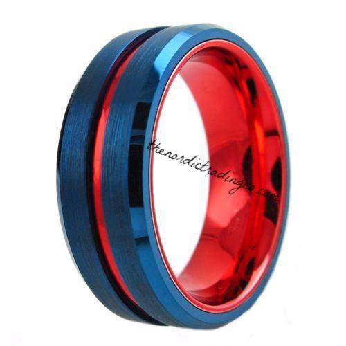 Military Police Red White Blue Wedding Band