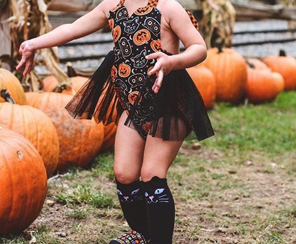 Halloween Vintage Pumpkins Owls Orange Checks Tutu Baby Toddler Girl Girls Romper Headband Black Sparkle Tulle Skirt Fall Photography Pumpkin Patch Photo Prop