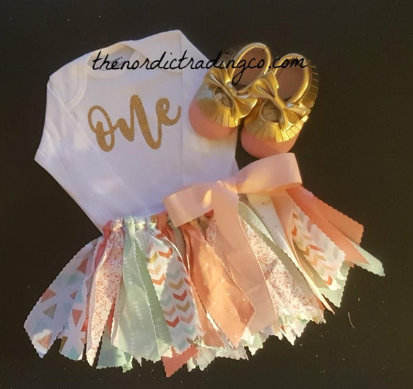 Baby Girl's 1st Birthday Outfits Twirl Skirt Top FREE Mocs