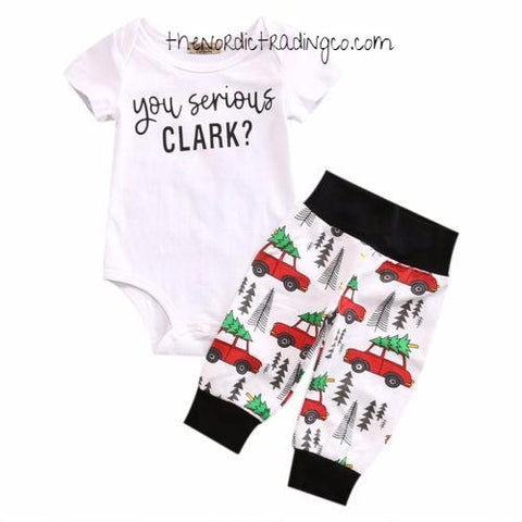 You Serious Clark? Holiday Family Griswald Christmas Vacation Inspired Infant Outfit Baby Boy Shower Gifts Kids Newborn Clothes Outfits Top Bottoms