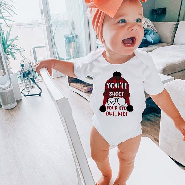 You'll Shoot Your Eye Out Kid New Baby Gift Onesie Bodysuit Romper 0/6 mo A Christmas Story Top Unisex Boys Girls