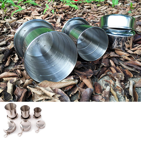 Portable Silver Stainless Steel Travel Coffee Cup