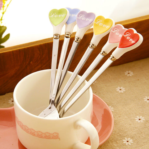 Multicolor Love Hearts Coffee Spoon