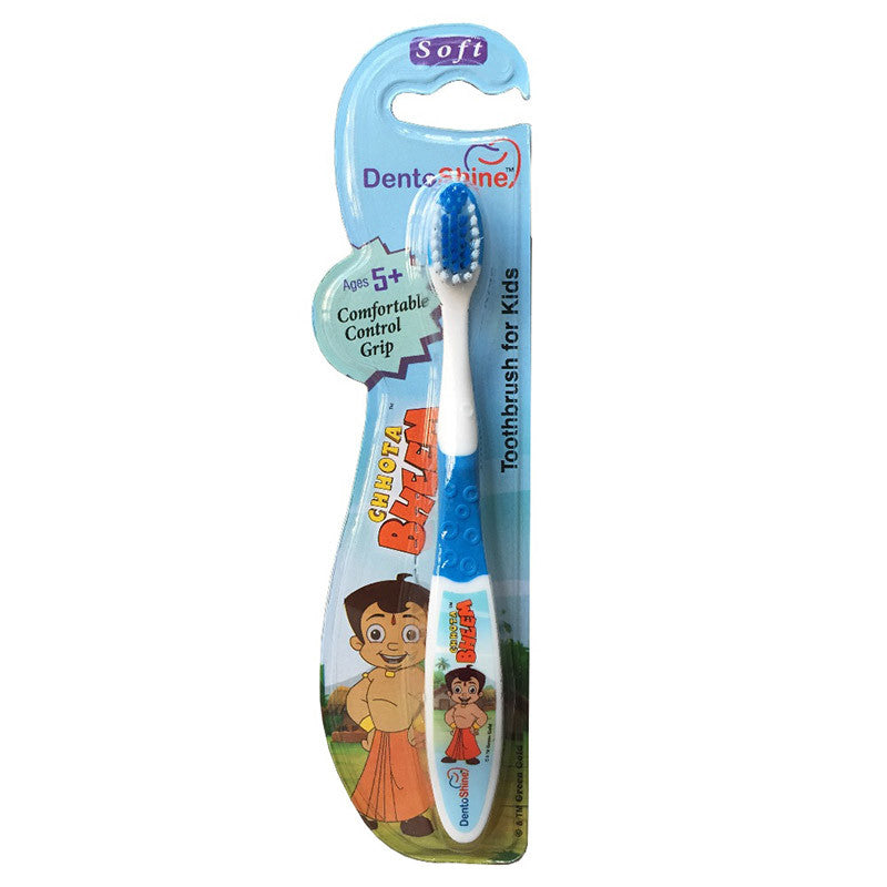 DentoShine Tooth Brush Kids (Ages 5+)  - Blue (Chhota Bheem)