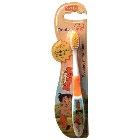 DentoShine Tooth Brush Kids (Ages 5+)  - Orange (Chhota Bheem)