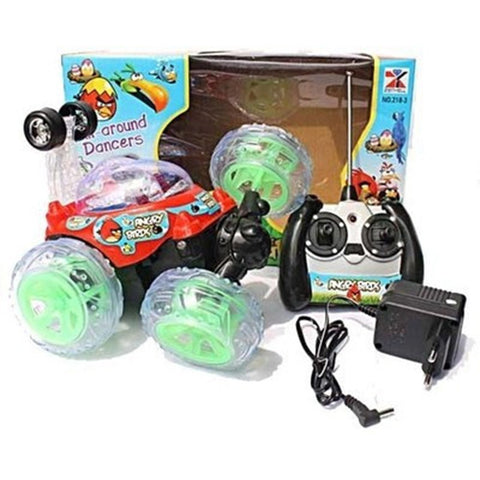 Phoenix Angry Birds Rechargeable Stunt Car (Multicolor)