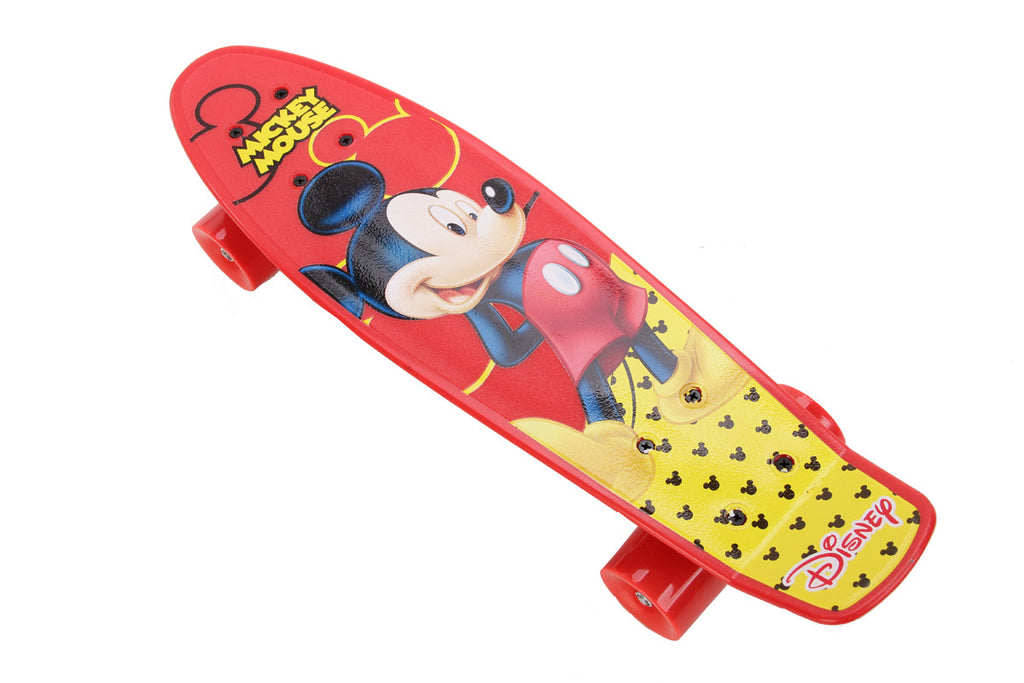 Mickey Street Skate Board - Red & Yellow