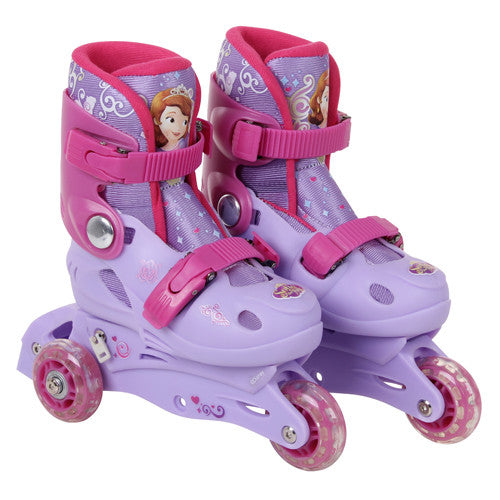 Disney Sofia 3 Wheels Multi Function Inline Skate - Pink & White